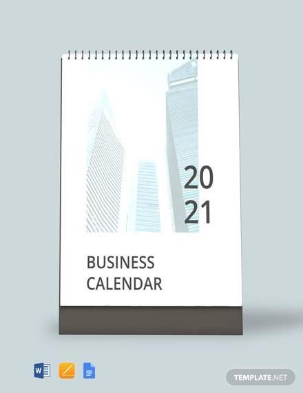 printable business desk calendar template