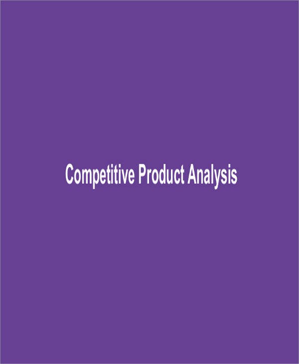 product competitive analysis