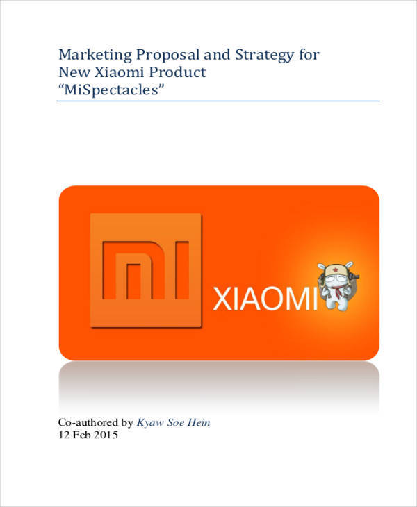 product marketing sample proposal