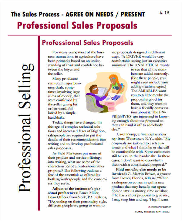 Sales Proposal  Free Sample Example Format Download