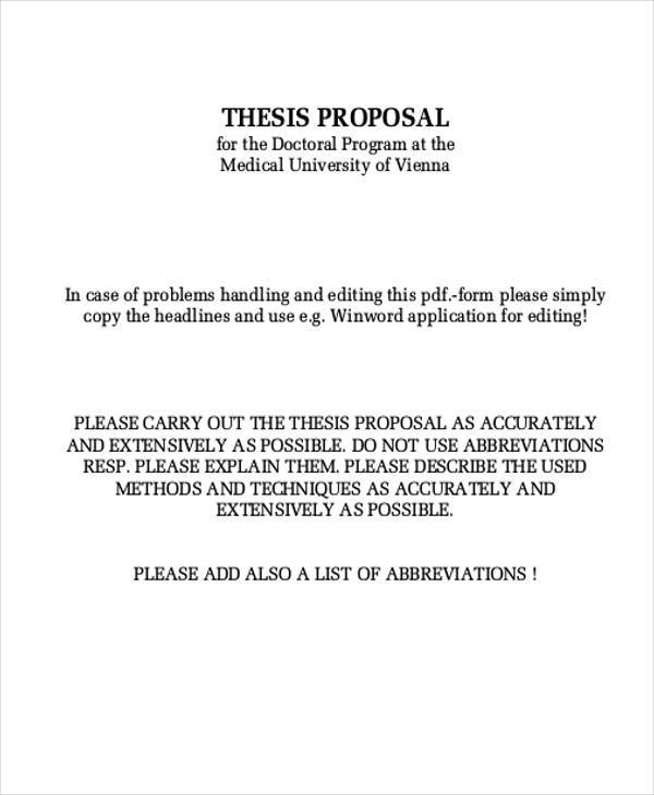 Thesis proposal kth