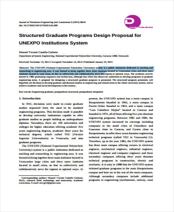 program design proposal