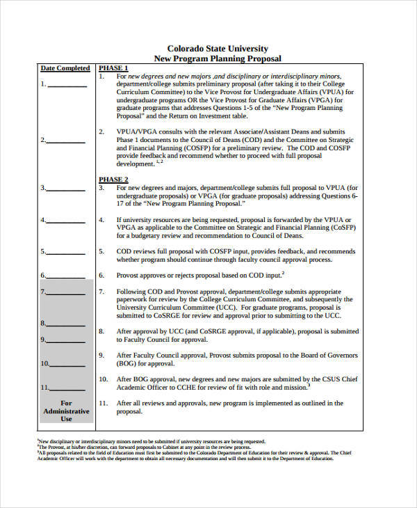 Program Proposals 9 Free Documents In Word Pdf