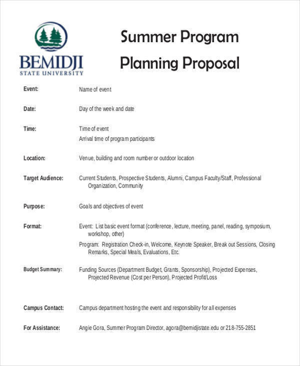 34  proposal formats