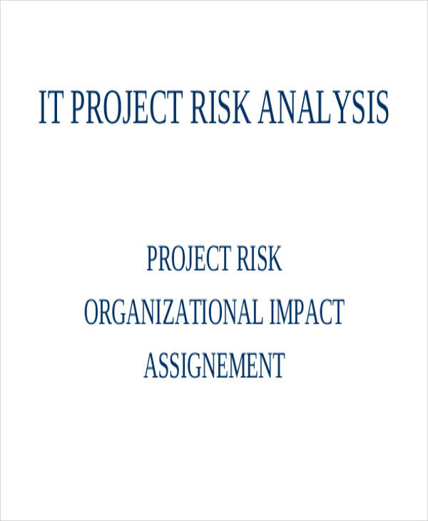 project risk analysis template