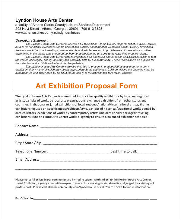 proposal for art exhibition