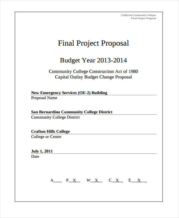 proposal for construction project