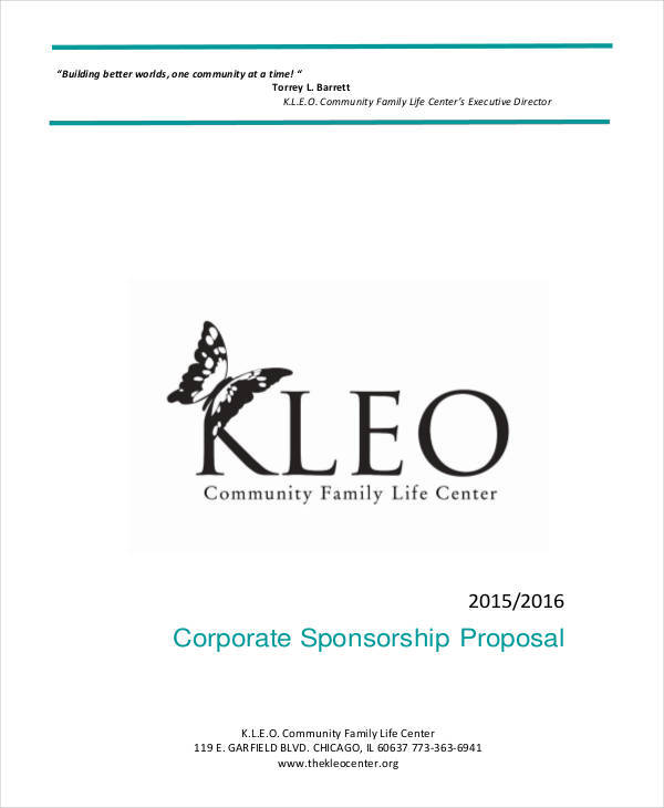 proposal for corporate sponsorship