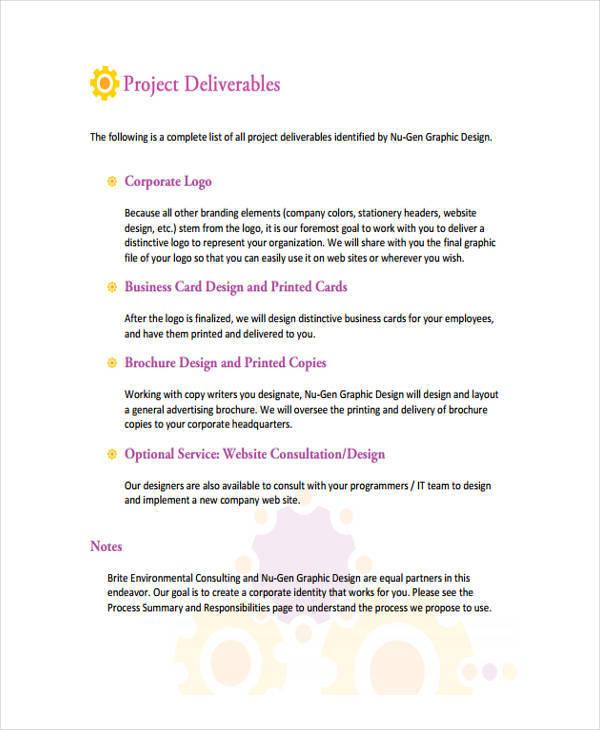 proposal for design work