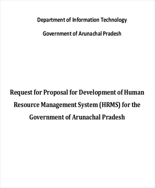 proposal for development hr