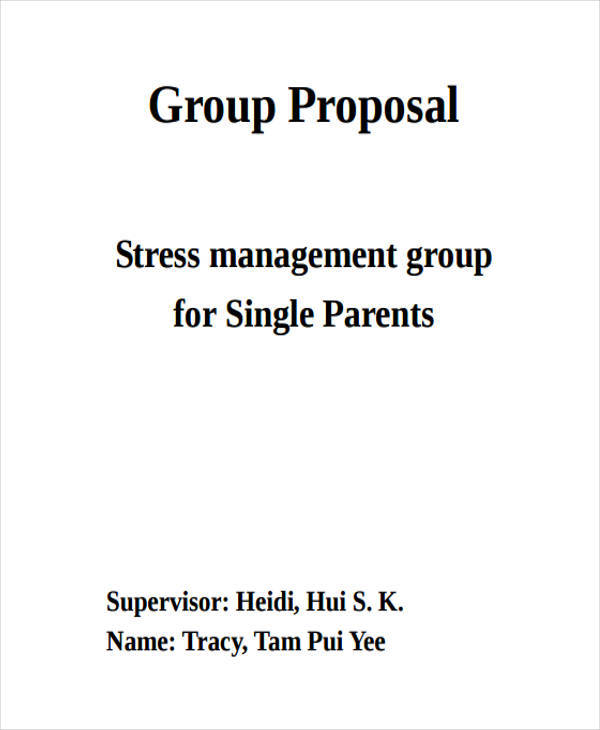 proposal for group work