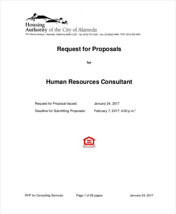 proposal for hr consulting
