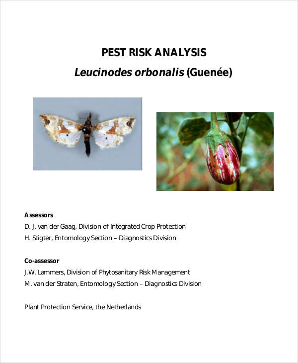quantitative pest risk analysis