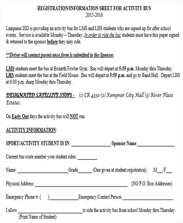 registration information sheet1