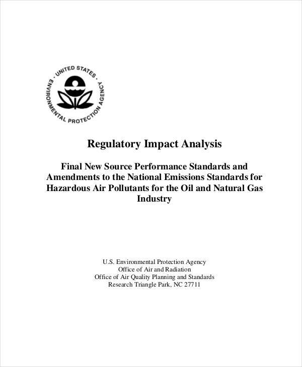 regulatory impact analysis2
