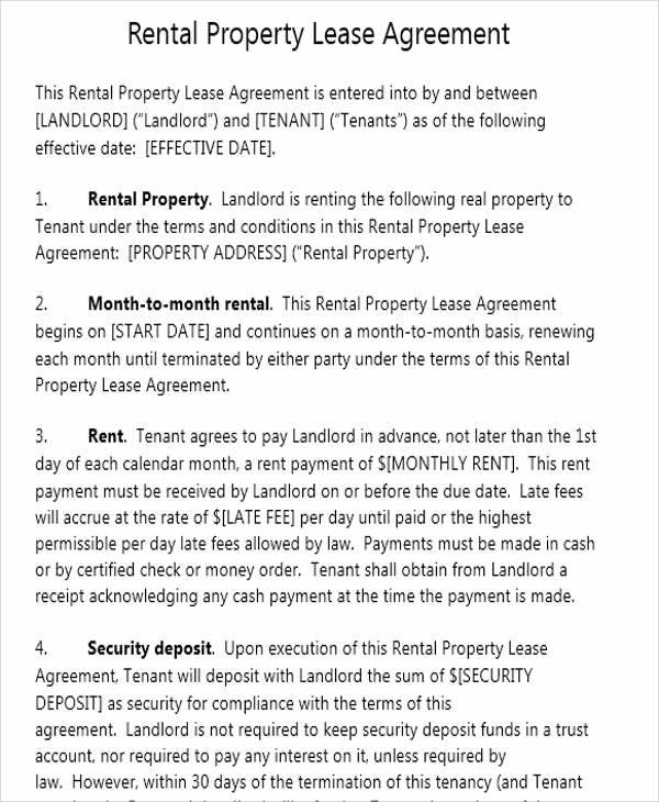 49 lease agreement formats amp templates word pdf pages
