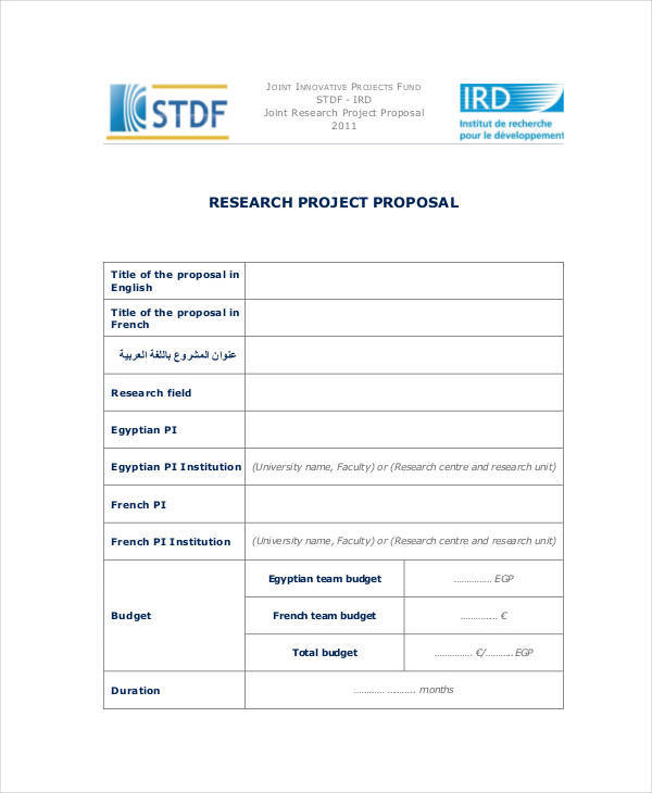 research project proposal1