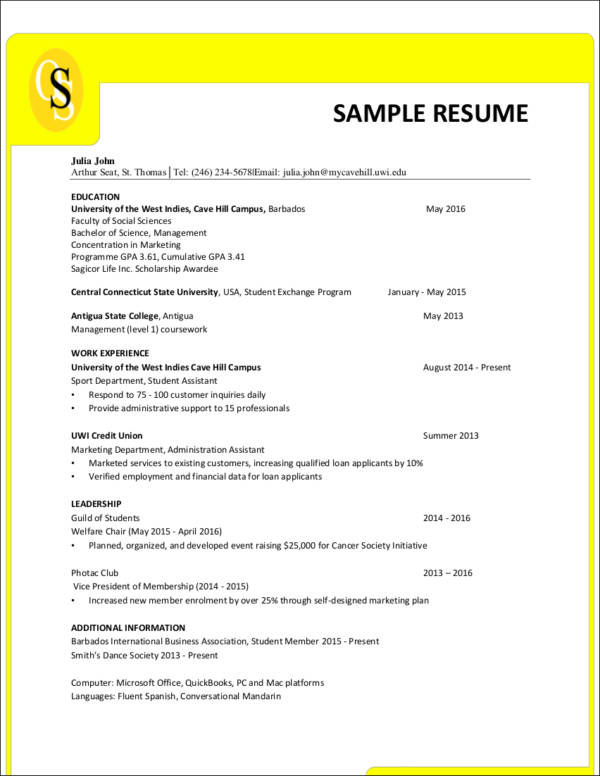 resume format guide and sample - Resume Formating