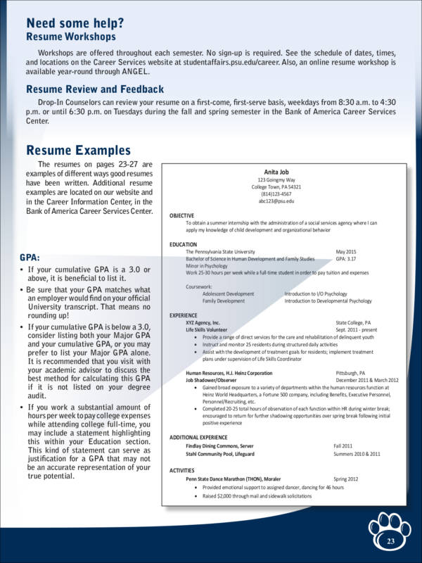 Resume Guide And Samples  Resume Guide