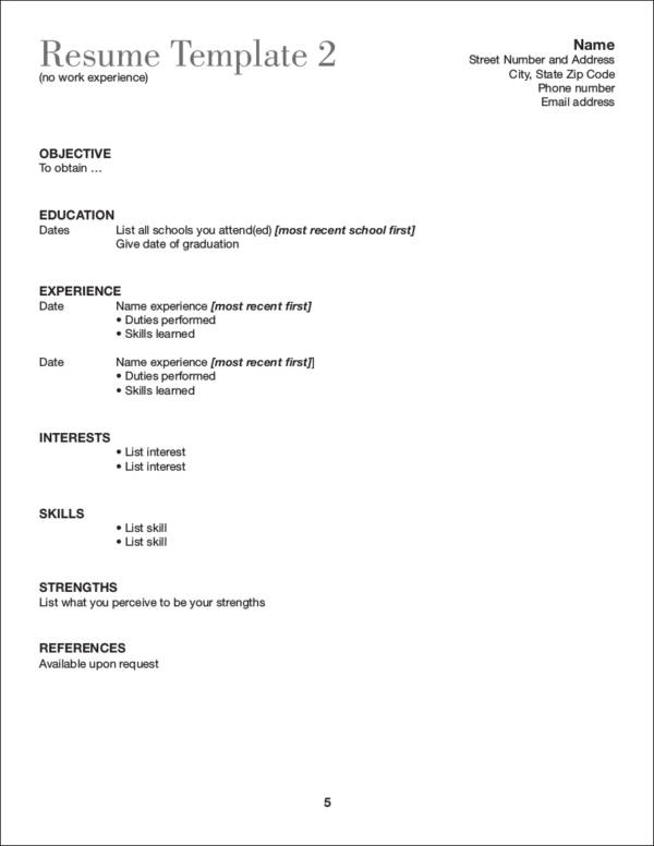 resume templates no work experience what to include in a resume if you lack experience 24468