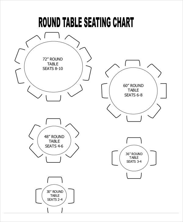 12 Seating Chart Template Free Sample Example Format