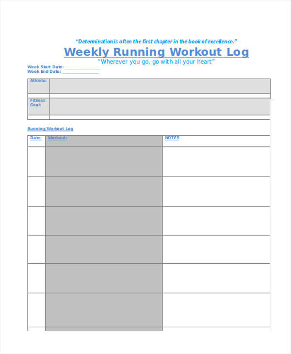 Running Log Template  SkiroPkIProTk