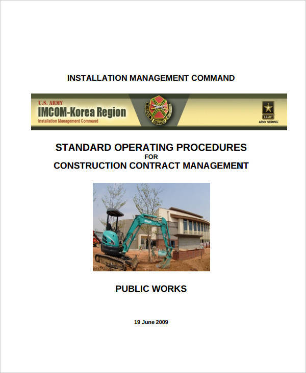 sop for construction company