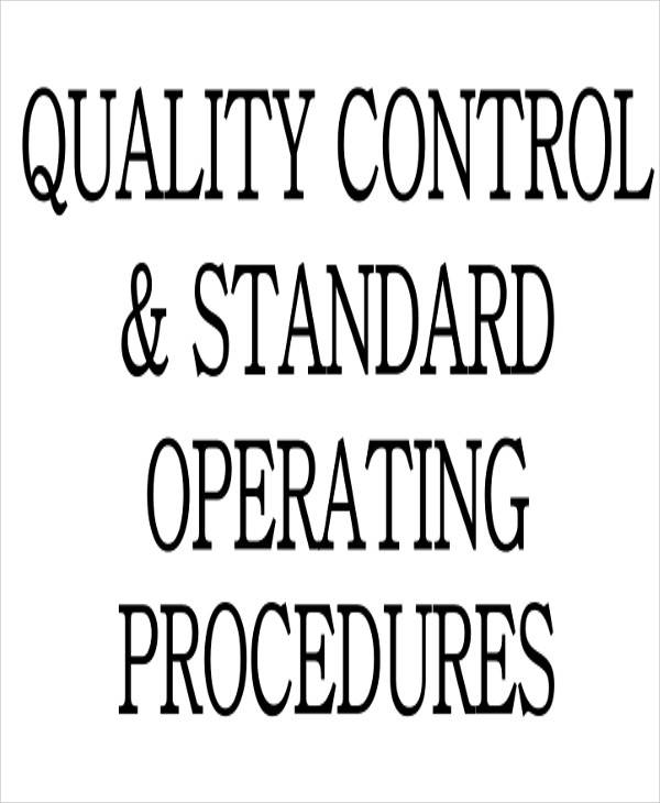 sop for quality control
