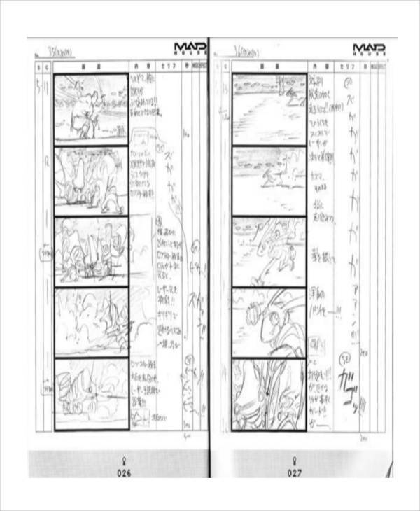 8+ Anime Storyboard - Free Sample, Example, Format Download