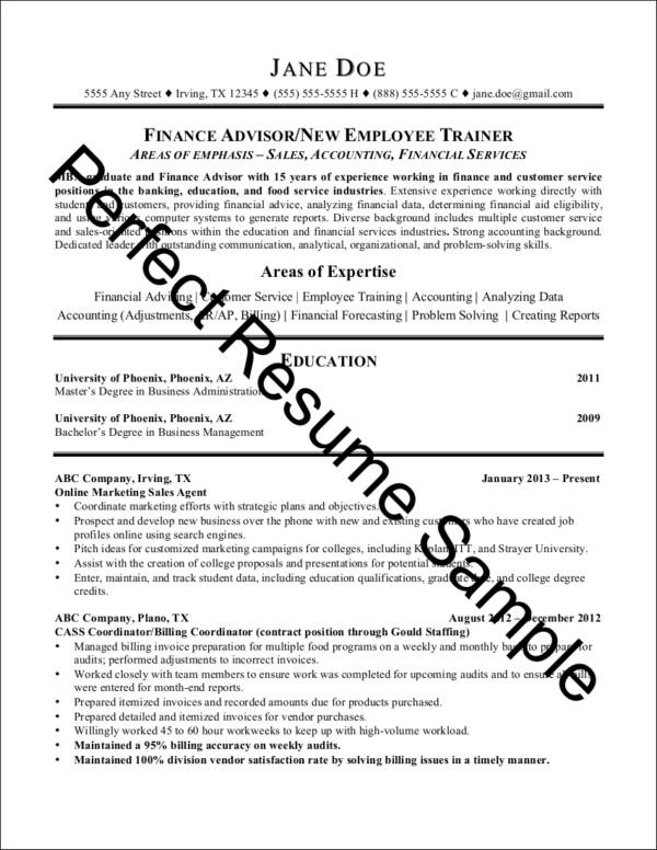 sample management major resume