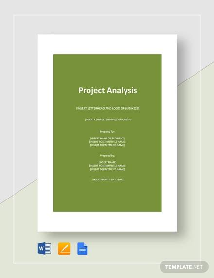 sample project analysis
