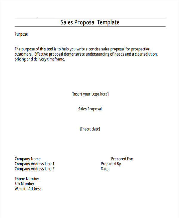 sale proposal example