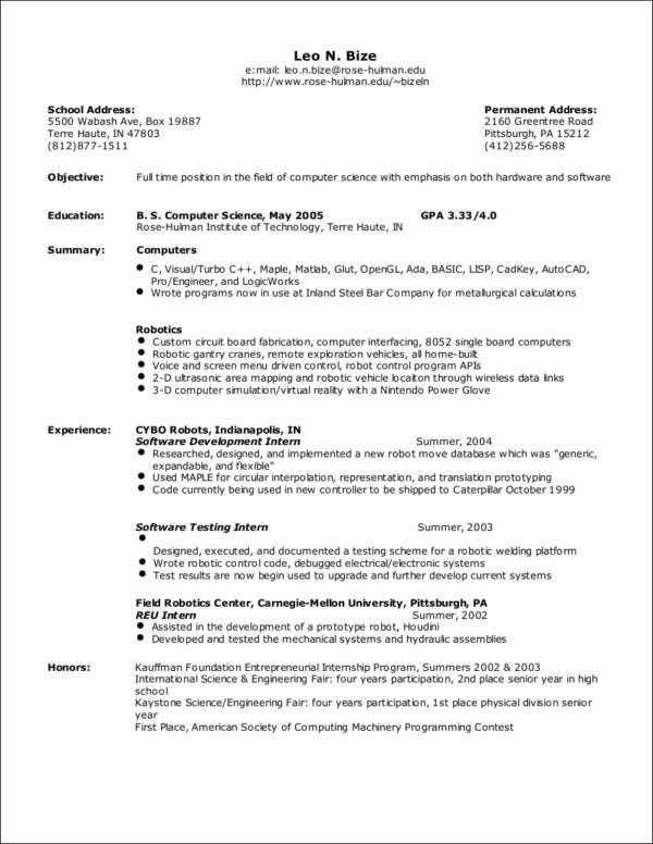 Marvelous Sample Senior Resume Nice Look