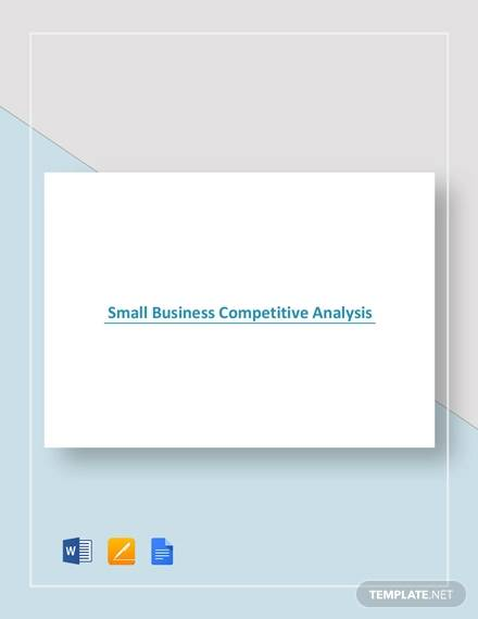 sample small business competitive analysis