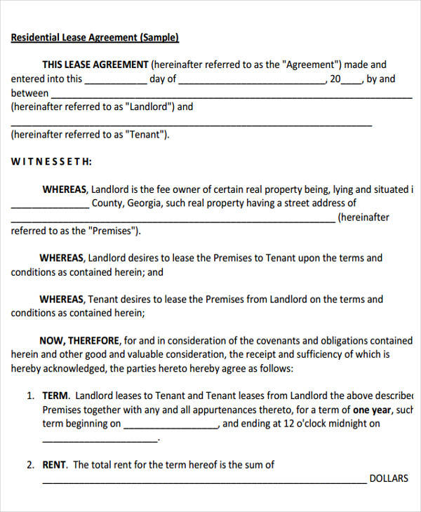 32 lease agreement forms in pdf. Black Bedroom Furniture Sets. Home Design Ideas