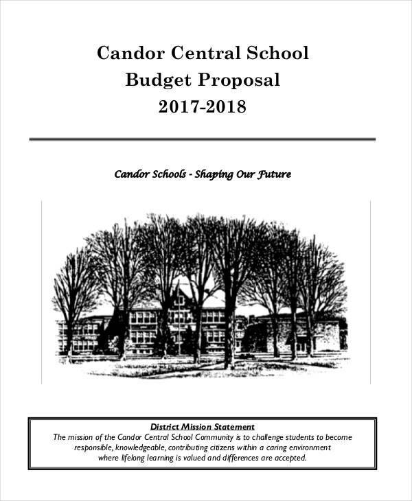 school budget proposal