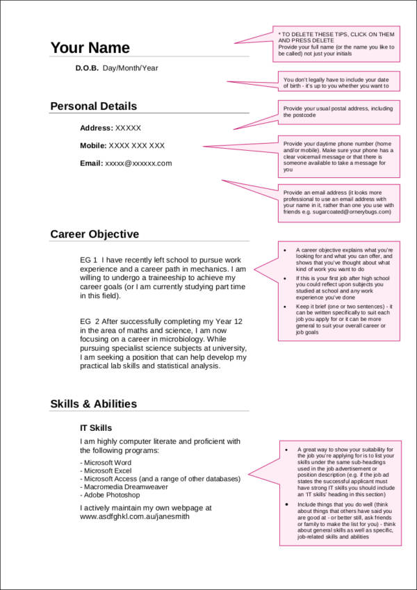 what to put on your resume