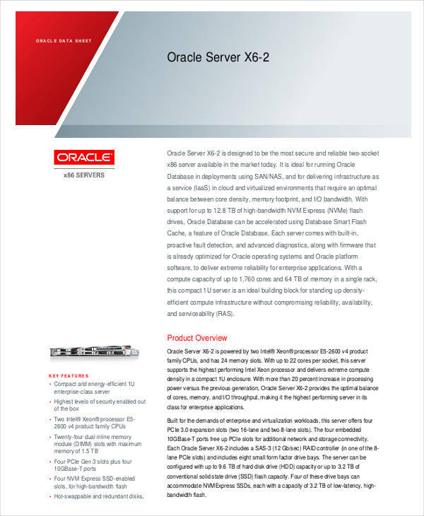 server data sheet template