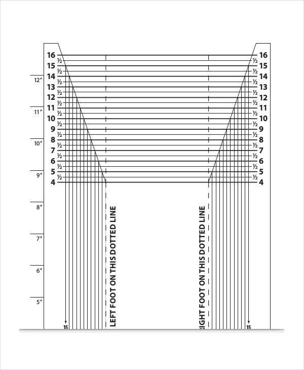 shoe measurement chart