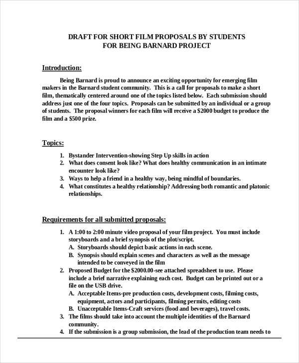 Business Proposal Formats