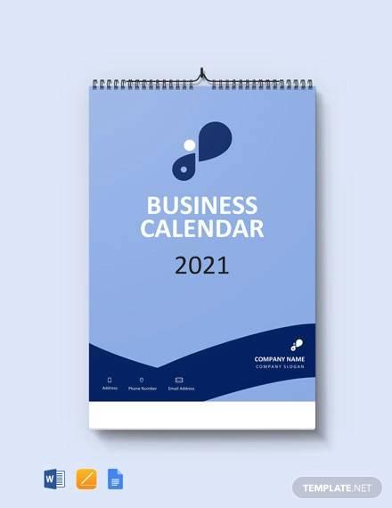 simple business desk calendar template