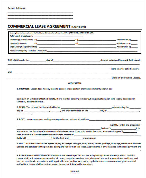 Free Lease Agreements
