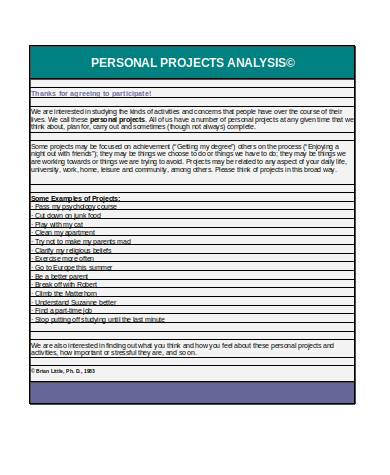 simple project analysis