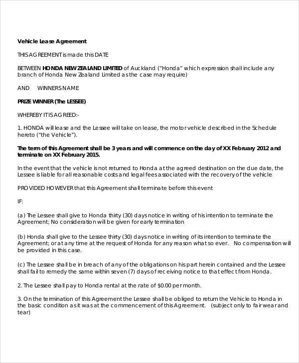 simple vehicle lease agreement3
