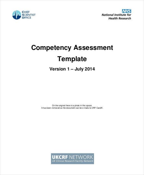 single competency sample assessment