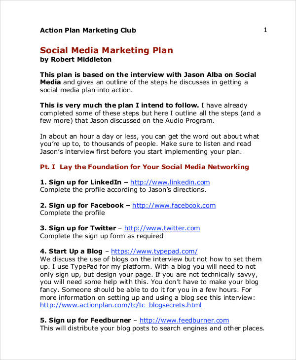 Marketing Plans In Pdf