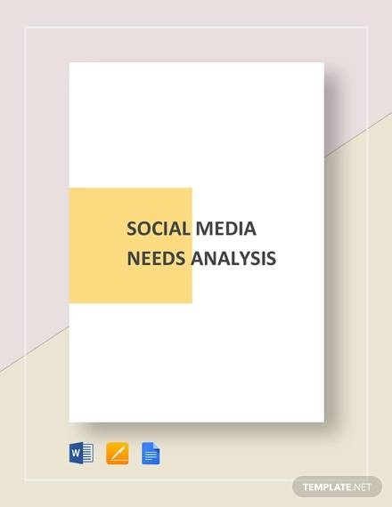 social media needs analysis