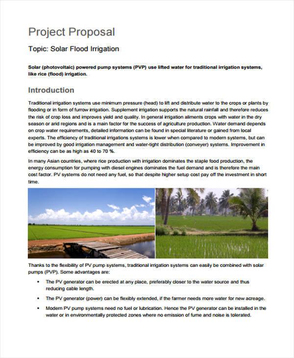 solar irrigation project