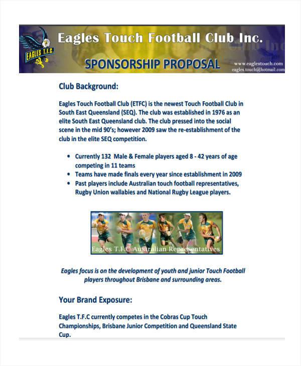 sponsorship proposal for sports