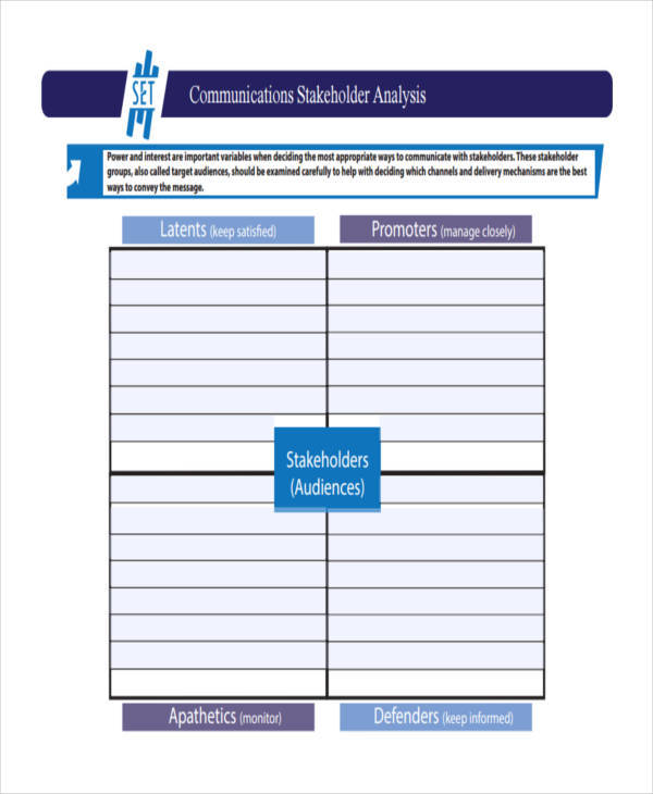 stakeholder communication analysis